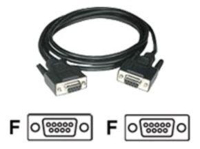 C2G, DB9 F/F Cable Black, 2m