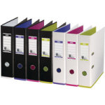 Mycolour A4 Lever Arch File White/Pink Each