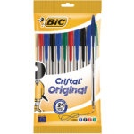 Bic Cristal Ball Point Pens Assorted Pk10