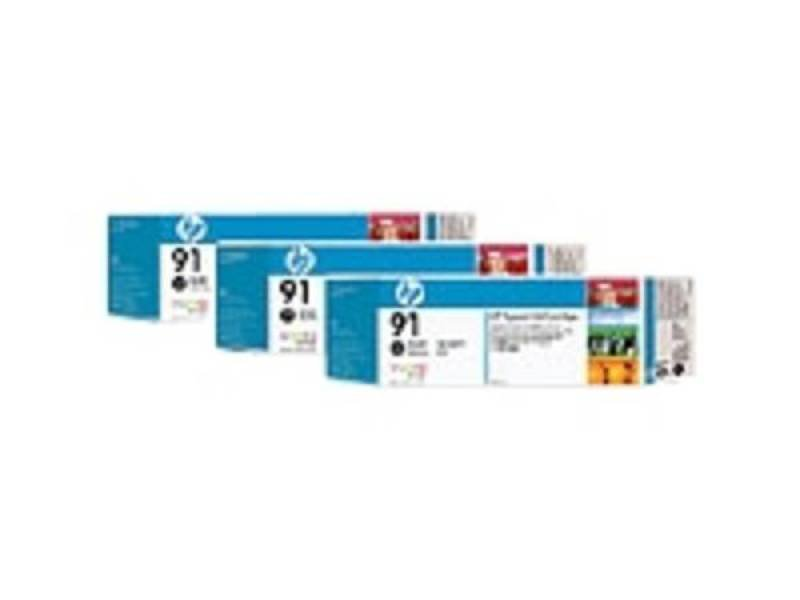 HP 91 Multi-pack 3x Photo Black OriginalInk Cartridge - Standard Yield 775ml - C9481A