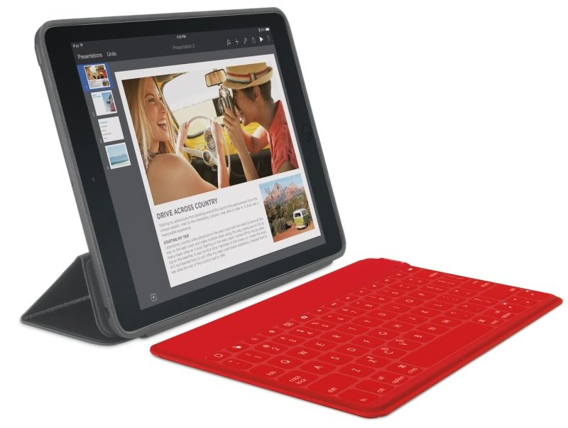 Logitech KeysToGo UltraPortable Keyboard for iPad  RED  UK  BT  INTNL