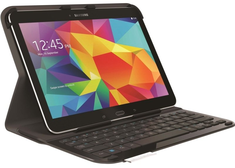 Logitech Ultrathin Keyboard Protective Case For Samsung Galaxy Tab 4 10.1