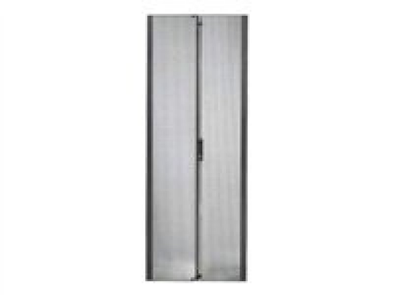 NetShelter SX 42U 600mm Wide Perforated Split Doors Black