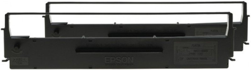 Epson SIDM Black Ribbon Cartridge for LX-350/300+/300+II, Dualpack