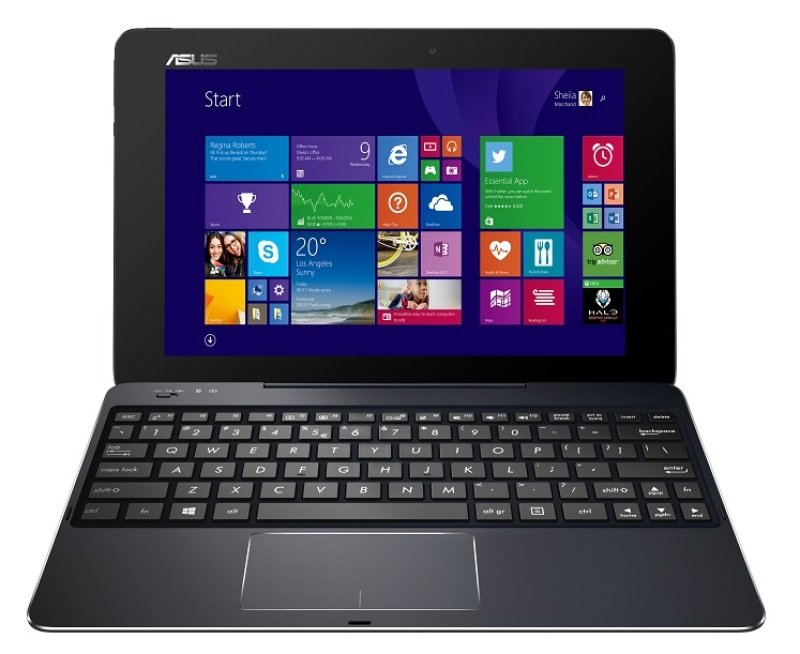 "Image of Asus T100CHI Convertible Laptop, Intel Quad-Core Atom Bay Trail-T, Z3775 1.46GHz, 2GB RAM, 64GB eMMC, 10.1"" Touch, Intel HD Gen7, Bluetooth, Webcam, 5MP Rear Camera, Windows 8.1"