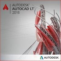 Autodesk AutoCAD LT 2016 Commercial New SLM ELD 2-Year Desktop Subscription with Basic Support