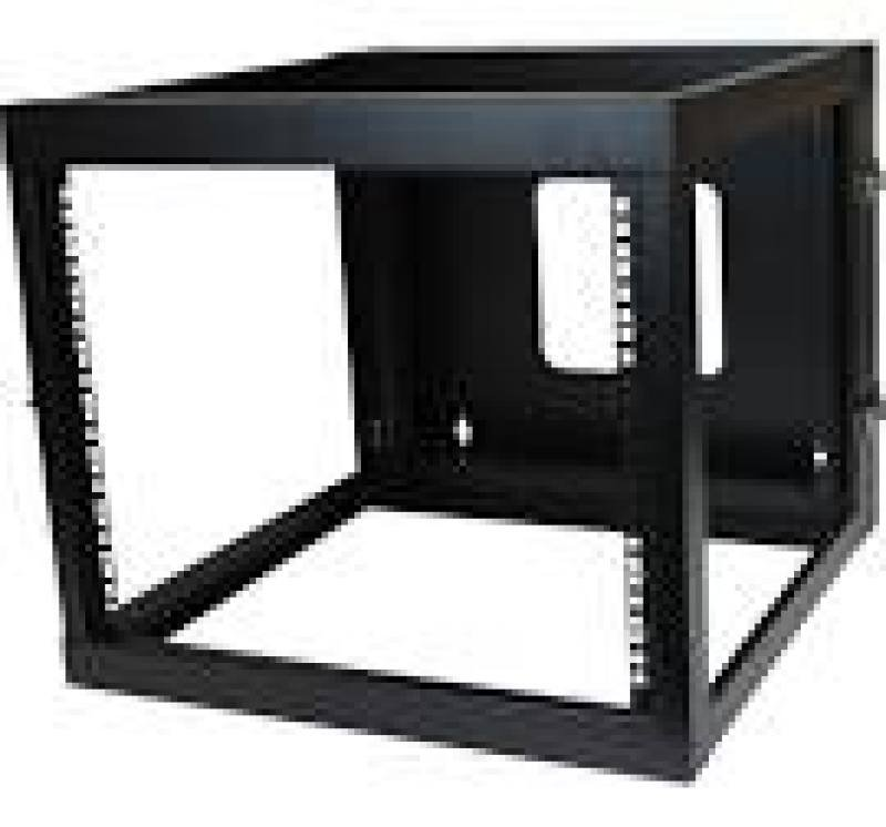 Startech 8u (22 Inch) Depth Hinged Open Frame Wall Mount Server Rack