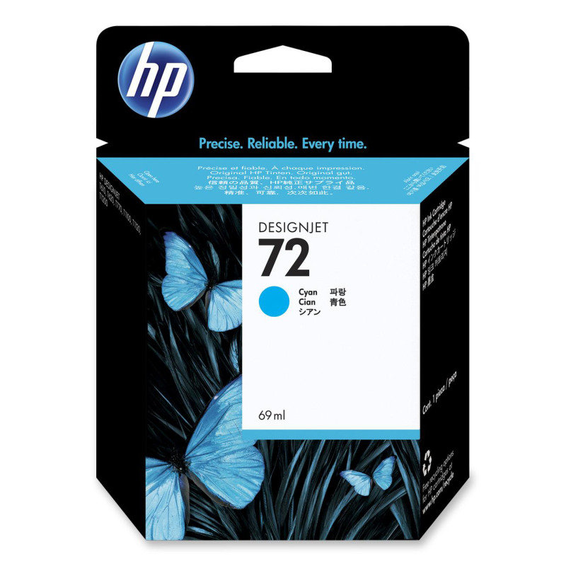 HP 72 69ml Cyan Ink Cartridge with Vivera Ink