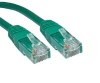 Cables Direct - Patch cable - RJ-45 (M) - RJ-45 (M) - 50 cm - UTP - ( CAT 6 ) - molded - green
