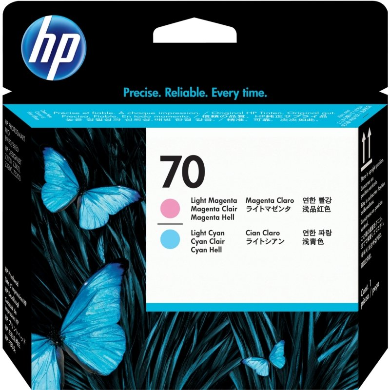 HP 70 Light Cyan  Light Magenta Printhead  C9405A