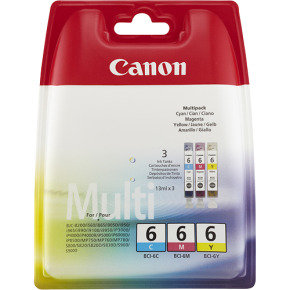 Canon BCI-6 CMY Blister MultiPack Colour Ink Cartridge