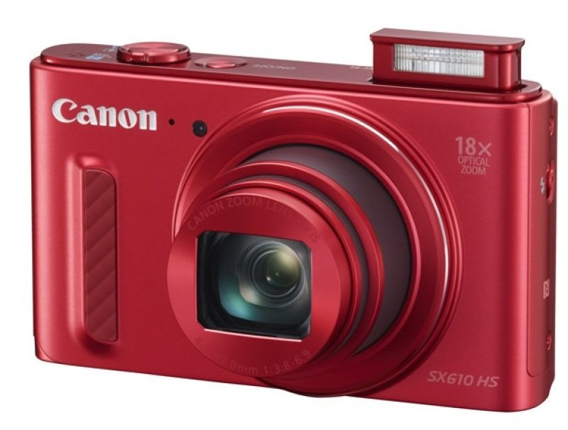 Canon PowerShot SX610 HS Digital Compact Camera  20.2mp. 18x Optical Zoom Wifi  Red