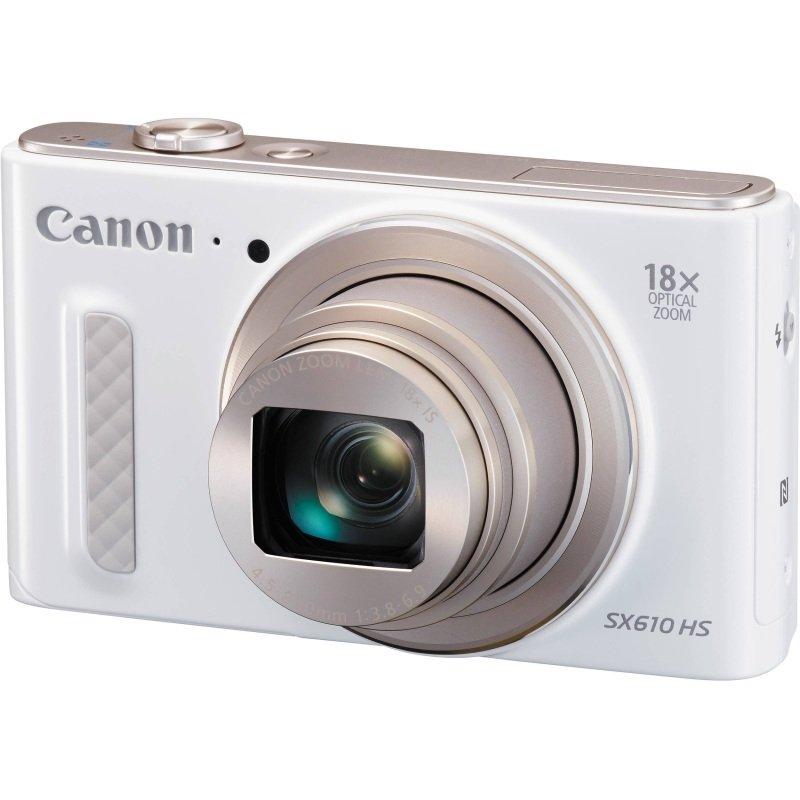 Canon PowerShot SX610 HS Digital Compact Camera  20.2mp. 18x Optical Zoom Wifi  White