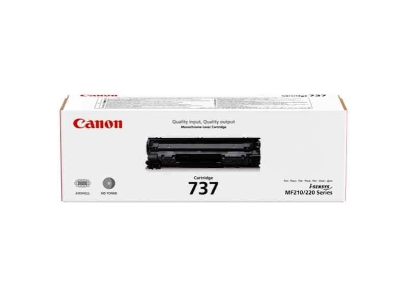 Canon 737 Black Toner Cartridge (2,100 pages)