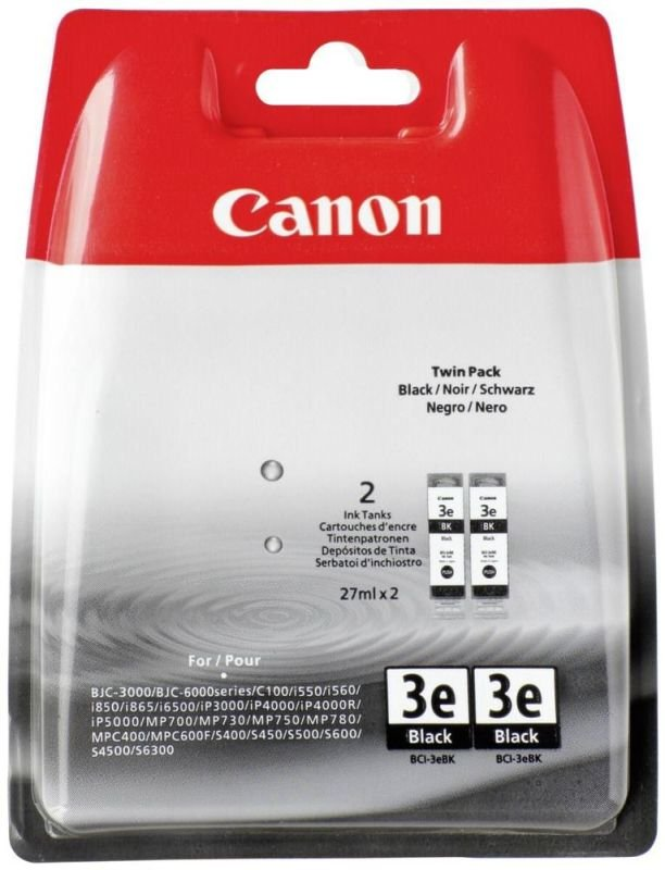 Canon BCI-3E Twin Black Pack Ink Cartridge