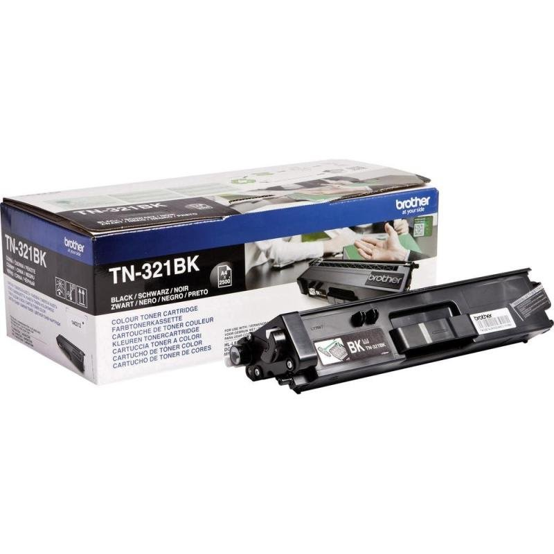 Brother TN-321BK Black Toner Cartridge - 2,500 Pages