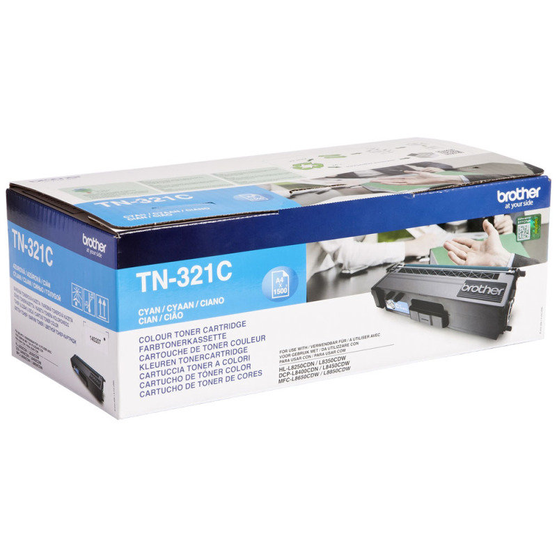 Brother TN-321C Cyan Toner Cartridge - 1,500 Pages