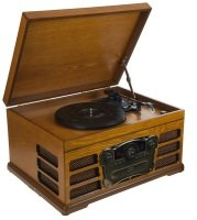 EXDISPLAY Wooden Retro Turntable