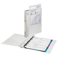 Snopake Clear 25mm 4 Ring Presentation Binder (Pk 10)