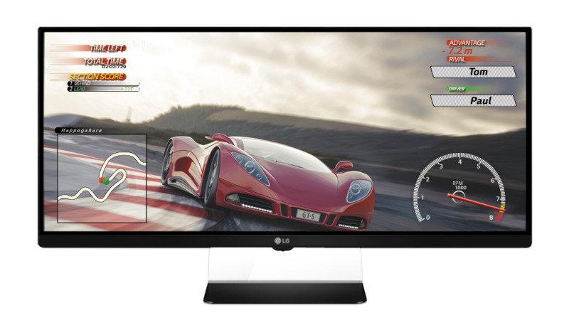 Image of 34UM67, LED Backlit, 2560x1080 Resolution, 10000000:1 Contrast Ratio, 320cd/m2 Brightness, 5ms Response Time, 1x DisplayPort Input, 2x HDMI, 2x ThunderBolt, 2 Years On Site Warranty