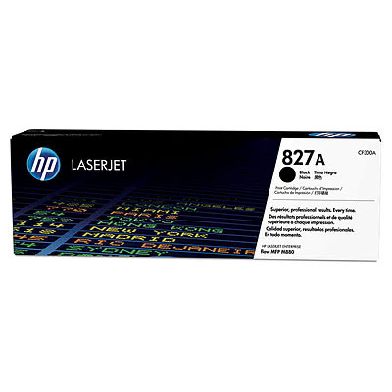 HP 827A Black Original LaserJet Toner Cartridge - CF300A