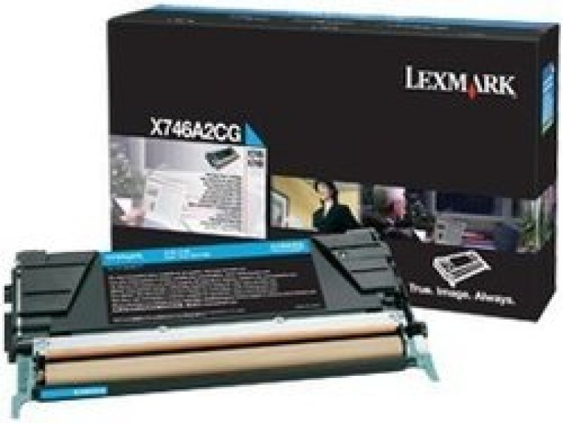 Lexamrk X746 X748 Cyan Toner Cartridge