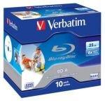 Verbatim BD-R 6x 25GB Blu-ray Print 10pk
