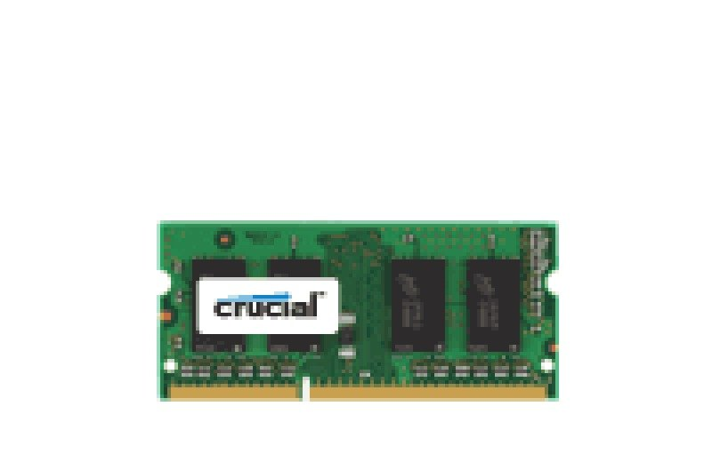 Crucial 2GB DDR3 1600 MT/s (PC3-12800) CL11 SODIMM 204pin 1.35V/1.5V Single Ranked Laptop Memory