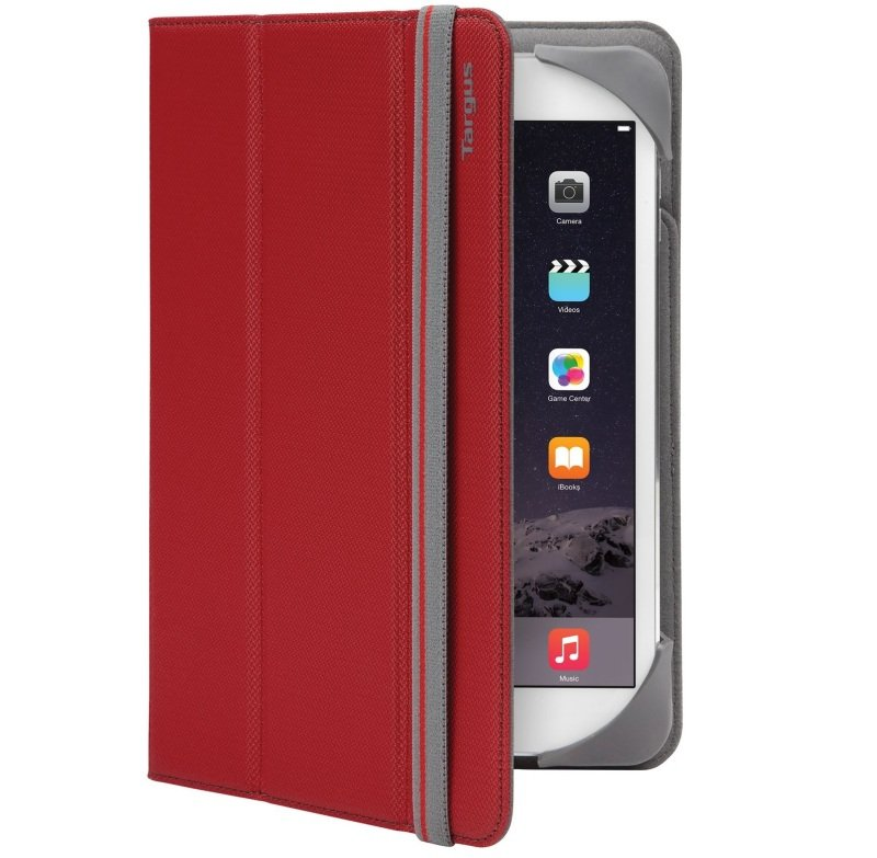 "Image of Targus Fit N Grip Universal Folio - For Tablets 7-8"" - Red"