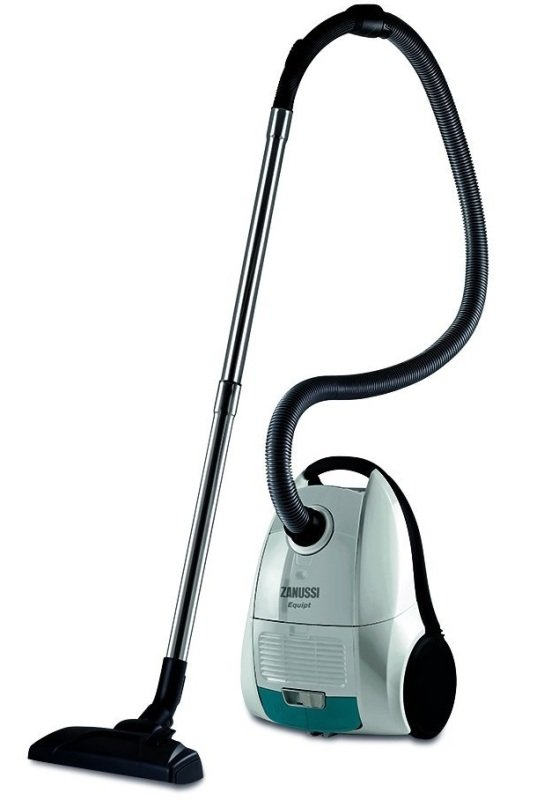 Image of Bagged Vacuum Cleaner White And Blue 7m Cleaning Radius 4.3kg Weight 1 Y