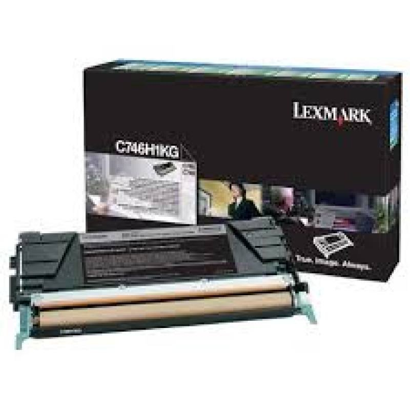 Lexmark C746H2KG Black Toner Cartridge