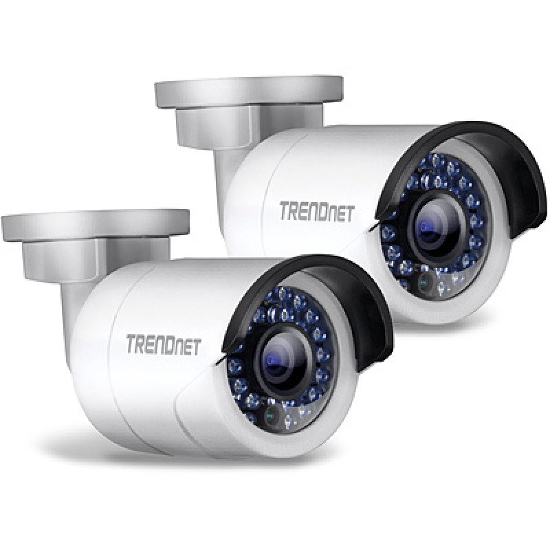 Trendnet TV-IP320PI2K outdoor 1.3 MP HD PoE IR Network Camera Twin Pack