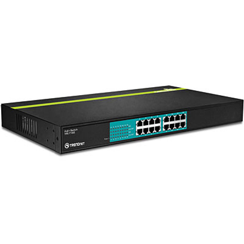 Trendnet TPE-T160 - 16-Port 30 Watt 10/100Mbps PoE+ Switch