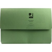 Q Connect Document Wallet Fc Green - 50 Pack