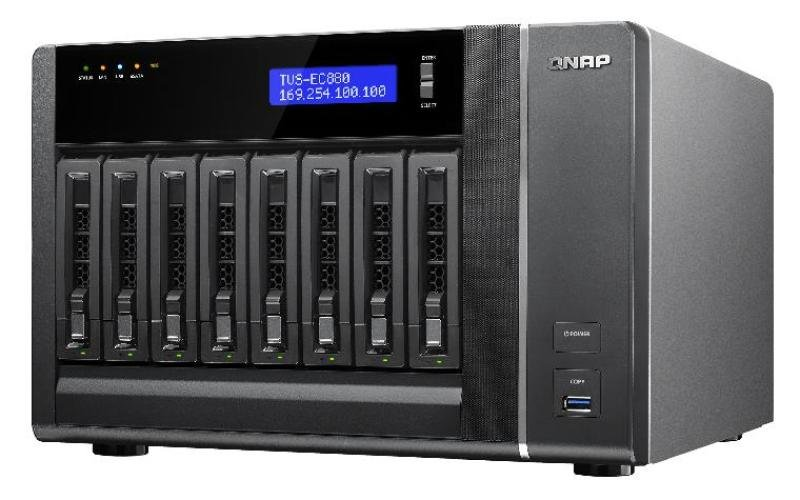 Image of QNAP TVS-EC880-E3 (16GB RAM) 8 Bay Desktop NAS Enclosure