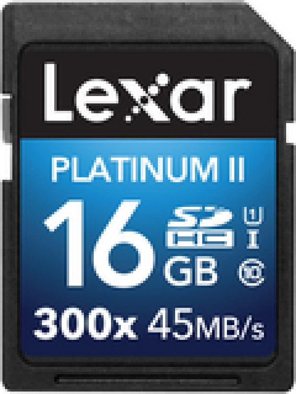 Lexar Platinum II 300x SDHC 16GB (Class 10) UHS 1 Memory Card