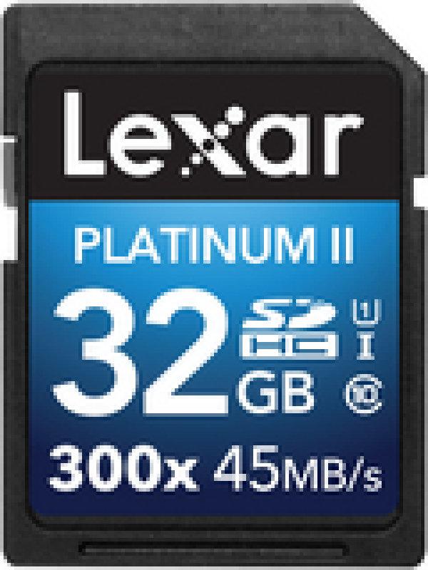 Lexar Platinum II 300x SDHC 32GB (Class 10) UHS1 Memory Card