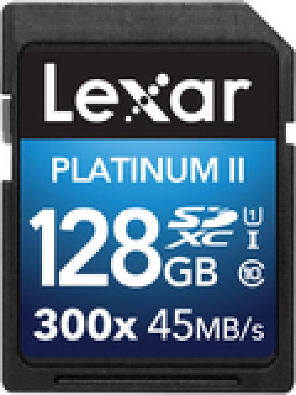 Lexar Platinum Premium II 128GB SDXC UHS1 Memory Card