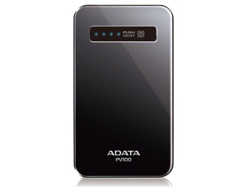 Image of ADATA PV100 Power Bank Portable Battery Charger (Black)