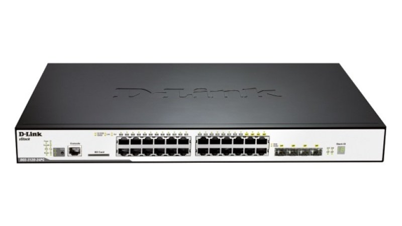 D-Link DGS-3120-24PC/S 24-Port Gigabit L2 Stackable Managed PoE Switch