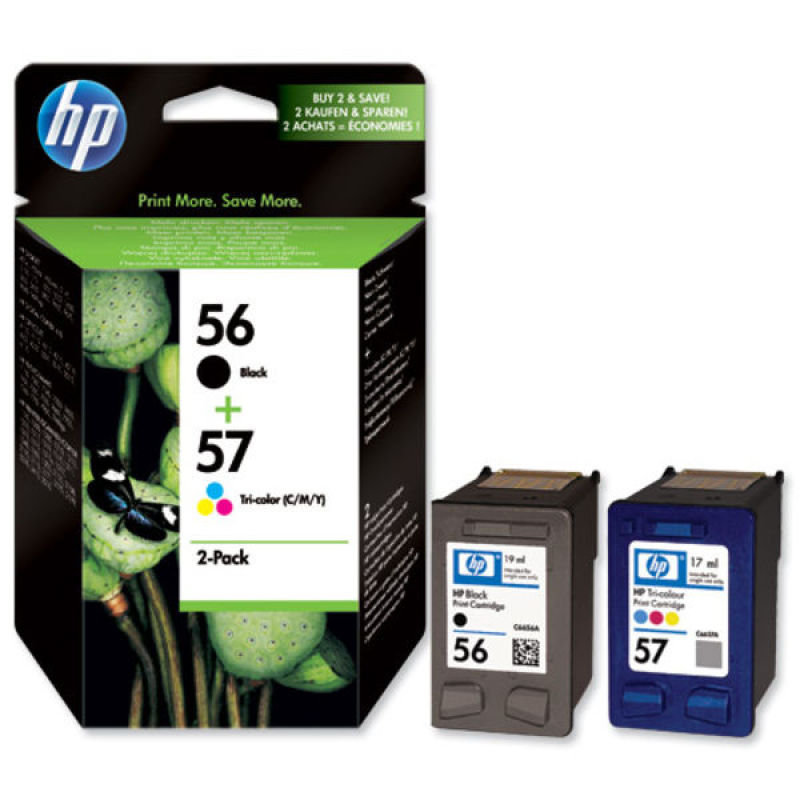 HP 56/57 Combo Pack Ink Cartridge - SA342AE