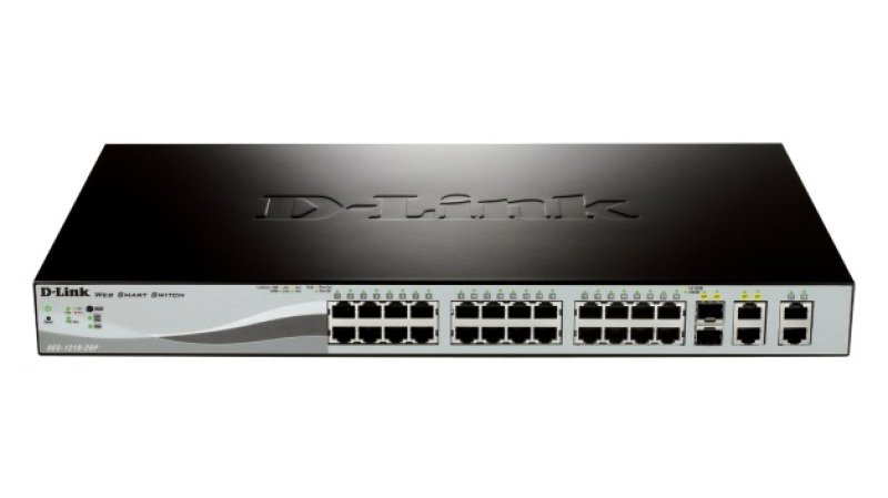 D-Link DES-1210-28P - 24-port 10/100 Smart PoE Switch