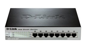D-Link DES-1210-08P - DES 1210 Switch Managed 8 x 10/100 desktop PoE