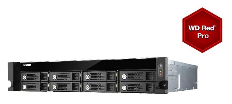 Image of QNAP TVS-871U-RP-i3 24TB (8 x 3TB WD Red Pro) 4GB RAM 8 Bay 2U NAS