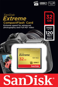 SanDisk SDCFXSB-032G-G46 32GB 120MB/s Compact Flash Memory Card