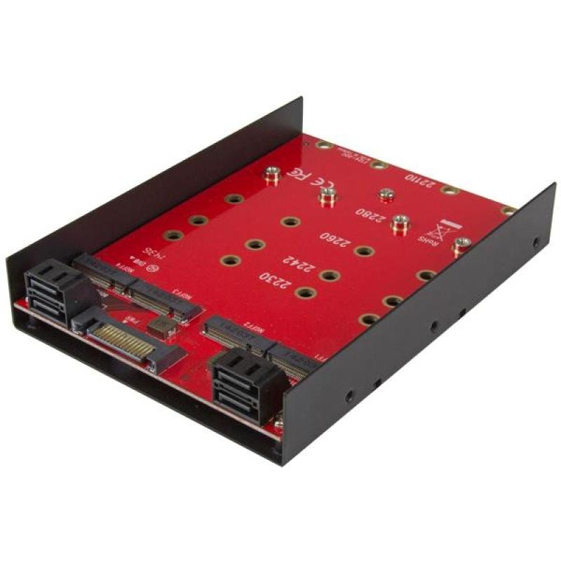 4x M.2 Sata Mounting Adapter For 3.5in Drive Bay