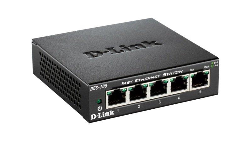 D-Link DES-105D 5-port 10/100 Metal Switch