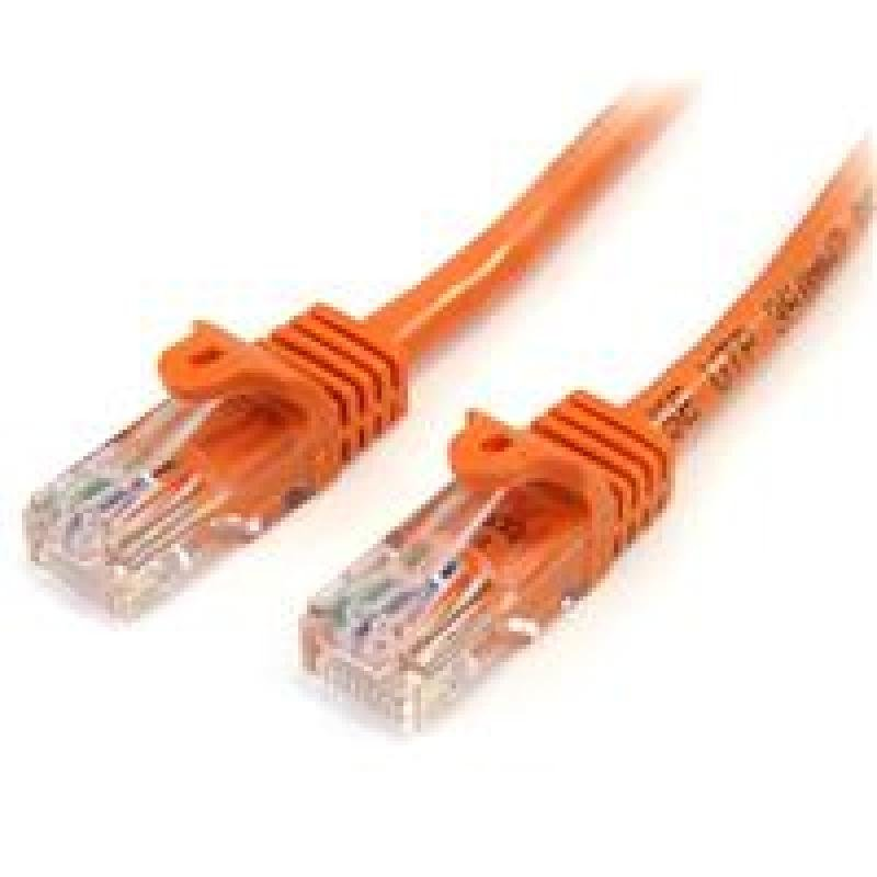 StarTech Cat5e Patch Cable With Snagless RJ45 Connectors  2M  Orange