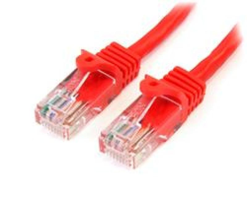 StarTech Cat5e Patch Cable With Snagless RJ45 Connectors   2M  Red