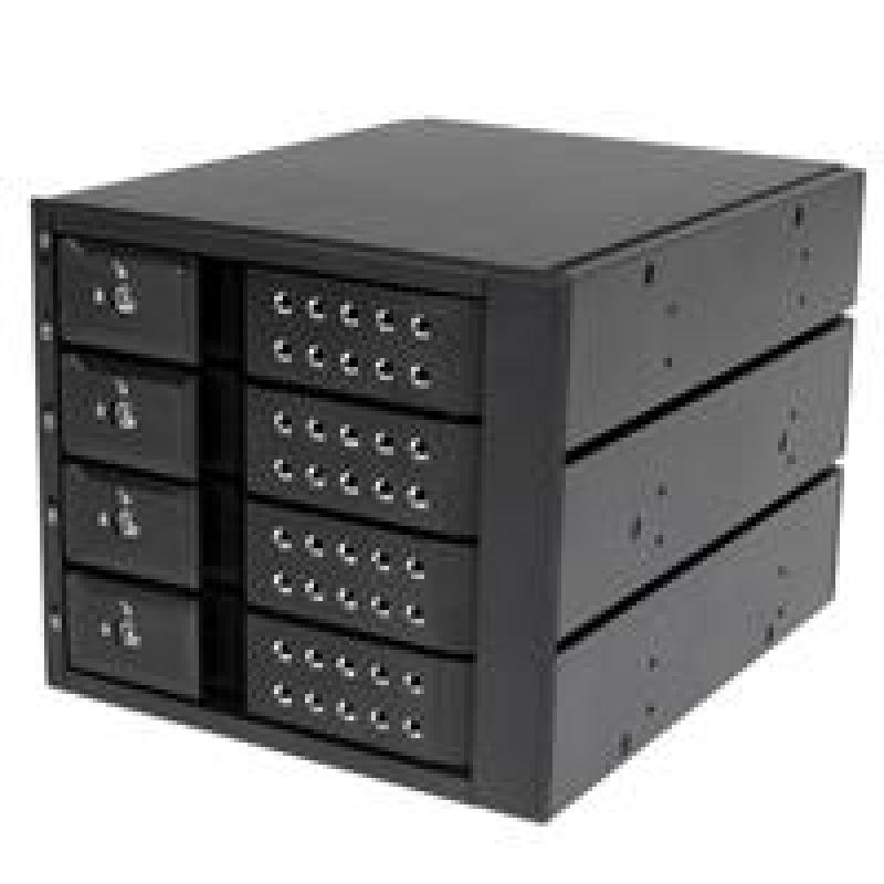 StarTech 4 Bay Aluminum Trayless Hot Swap Mobile Rack Backplane For 3.5in SAS II/SATA III - 6 GBPS HDD